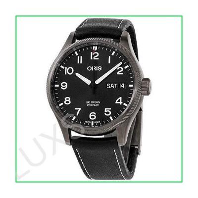 Oris Big Crown ProPilot Black Dial Leather Strap Men's Watch 75276984264LSBLK 並行輸入品