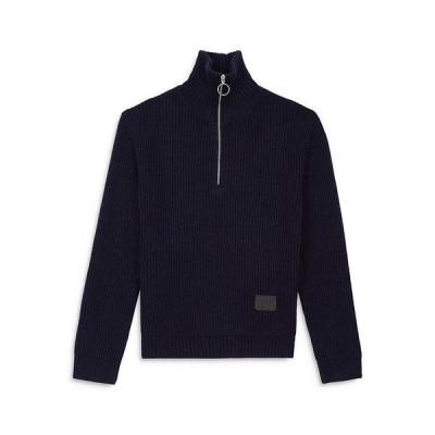 ザ・クープルス メンズ ニット・セーター アウター Funnel Neck Zip Sweater