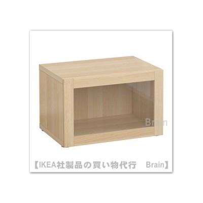IKEA/イケア BESTA シェルフユニット ガラス扉付60x40x38 cm ホワイトステインオーク調/シンドヴィーク ホワイトステインオーク調