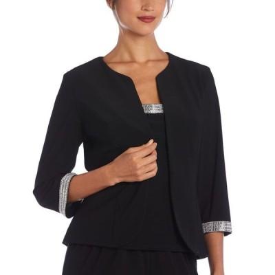 アールアンドエムリチャーズ レディース ワンピース トップス Plus Size 2-Pc. Embellished-Trim Top & Jacket Set