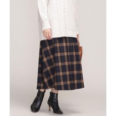 スカート チェックフレアスカート