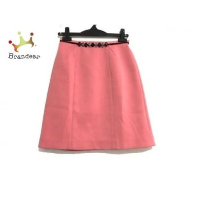 ジャスグリッティー JUSGLITTY スカート サイズ1 S レディース ピンク×黒 ビジュー     スペシャル特価 20200424