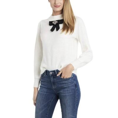 セセ レディース ニット・セーター アウター Long Sleeve Pullover Sweater w/Center Bow
