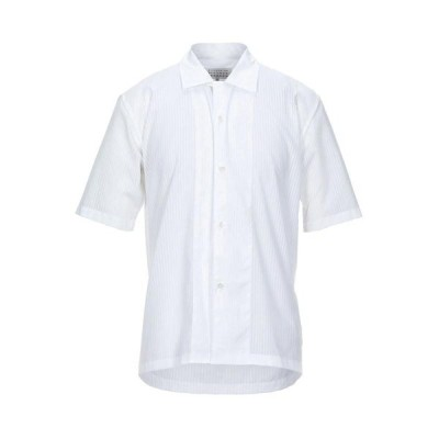 MAISON MARGIELA ストライプ柄シャツ  メンズファッション  トップス  シャツ、カジュアルシャツ  長袖 ホワイト