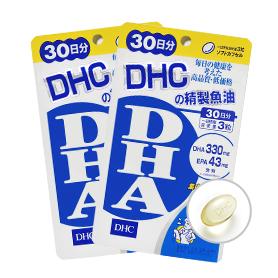 DHC精製魚油(DHA)2包組