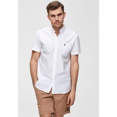 セレクテッドオム シャツ メンズ トップス Shirt - white
