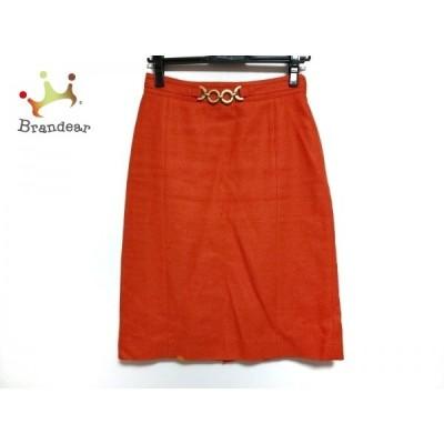 レキップ ヨシエイナバ L'EQUIPE YOSHIE INABA スカート サイズ38 M レディース オレンジ   スペシャル特価 20200720
