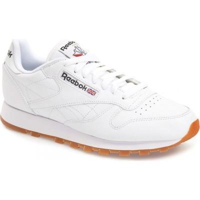 リーボック REEBOK メンズ スニーカー シューズ・靴 Classic Leather Sneaker White/Gum