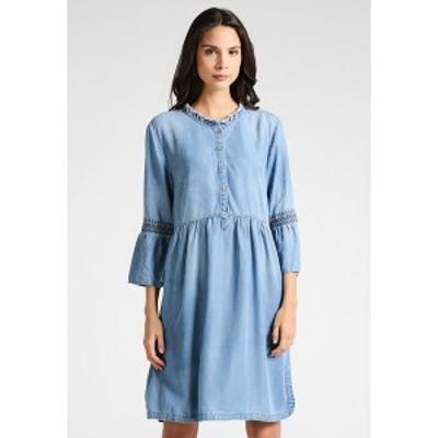 クリーム レディース ワンピース トップス LUSSA DRESS - Denim dress - light blue denim light blue denim