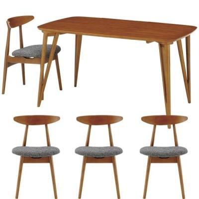 北欧・モダン ヨナス ダイニング テーブル 130 + チェア グレイ ×4セット カフェ JONAS DINING table 130 + chair grey ×4 SET / おしゃれ