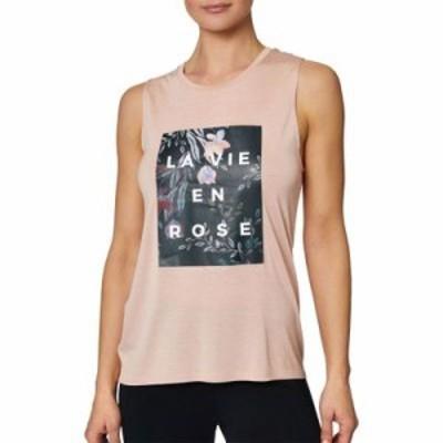 ローナジェーン タンクトップ Betsey Johnson Floral La Vie En Rose Muscle Tank Top Blush