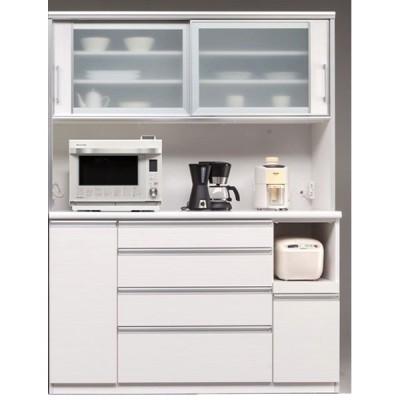 食器棚 150cm幅 引き戸 カプリス オープン 国産 完成品 開梱設置