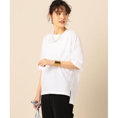 【ノーリーズ】 プレミアム天竺ロゴTシャツ レディース ホワイト F NOLLEY'S