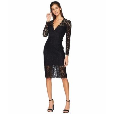 バードット ワンピース トップス レディース Midnight Lace Dress Black