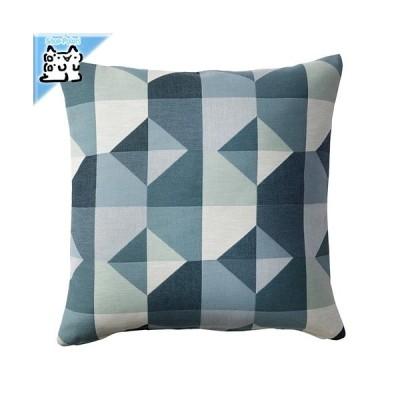IKEA Original SVARTHO クッションカバー グリーン/ブルー 50x50 cm