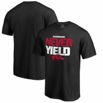 Fanatics Branded ファナティクス ブランド スポーツ用品  Arkansas Razorbacks Black Never Yield Hometown Collection T-Shirt