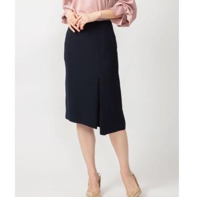 スカート ドライタッチダブルクロス アシメタイトスカート