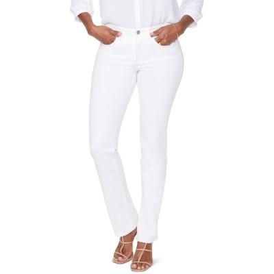 エヌワイディージェイ レディース デニムパンツ ボトムス Sheri Slim Jeans w/ Rhinestone Pockets OPTIC WHIT