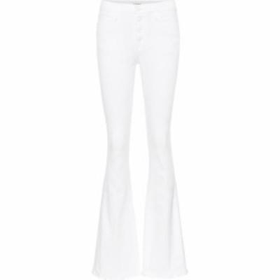 フレーム Frame レディース ジーンズ・デニム ボトムス・パンツ Le High Flare high-rise jeans Blanc
