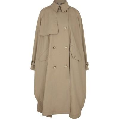 ステラ マッカートニー Stella McCartney レディース トレンチコート アウター alexa taupe cape-effect cotton trench coat Natural