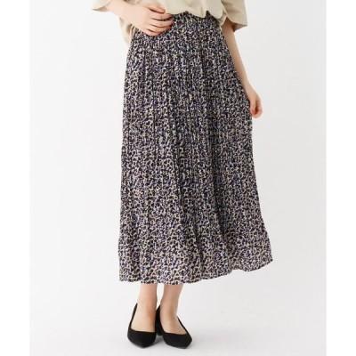 THE SHOP TK / ザ ショップ ティーケー トレンド幾何柄プリーツスカート