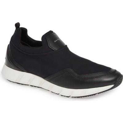 サルヴァトーレ フェラガモ SALVATORE FERRAGAMO メンズ スリッポン・フラット スニーカー シューズ・靴 Columbia Slip-On Sneaker Black