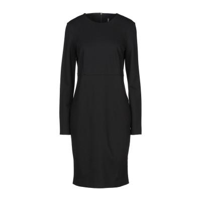 マニラ グレース MANILA GRACE ミニワンピース&ドレス ブラック 46 レーヨン 65% / ナイロン 32% / ポリウレタン 3%