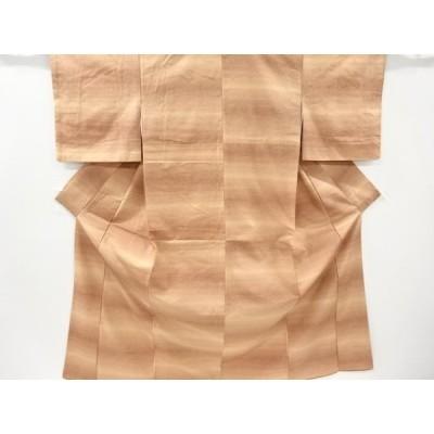 リサイクル 横段模様織り出し暈し手織り紬着物