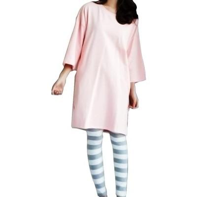 TradeArch マタニティ 授乳服 部屋着 妊婦さんにも ゆったり リラックスウェア 手触り良い (Mサイズ)