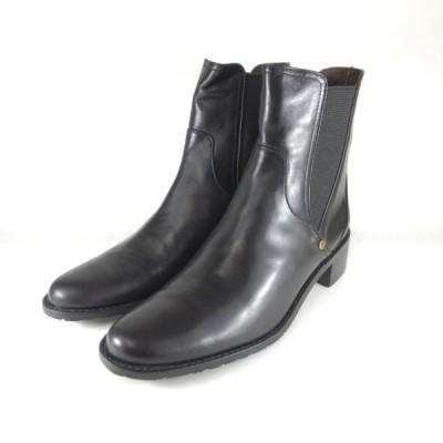 トラサルディ 靴 レディース trussardi 靴 TRL 9069 BLA サイドゴア ブーツ レディース ショートブーツ ローヒール 履きやすいブーツ 小さいサイズ 21.5 箱難有