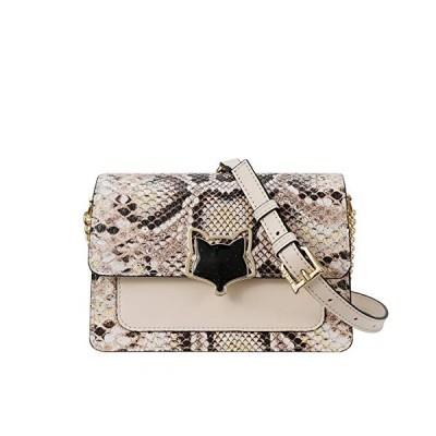 新品 Small Leather Crossbody Bags for Women, Genuine Leather Snakeskin Pattern Ladies Mini Messenger Bags with Adjustable Shoulder Strap Women's Sty