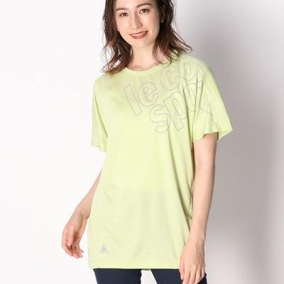 ベルーナ <ルコック>ビッグロゴゆるTシャツ イエロー M レディース