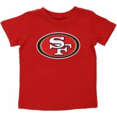 Outerstuff アウタースタッフ スポーツ用品  San Francisco 49ers Toddler Red Team Logo T-Shirt