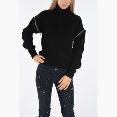 MSGM/エムエスジーエム セーター Black レディース 秋冬2019 Turtleneck Sweater Detachable Sleeeves dk