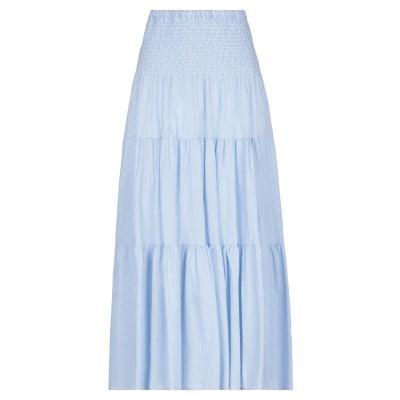 VICOLO ロングスカート スカイブルー one size コットン 100% ロングスカート