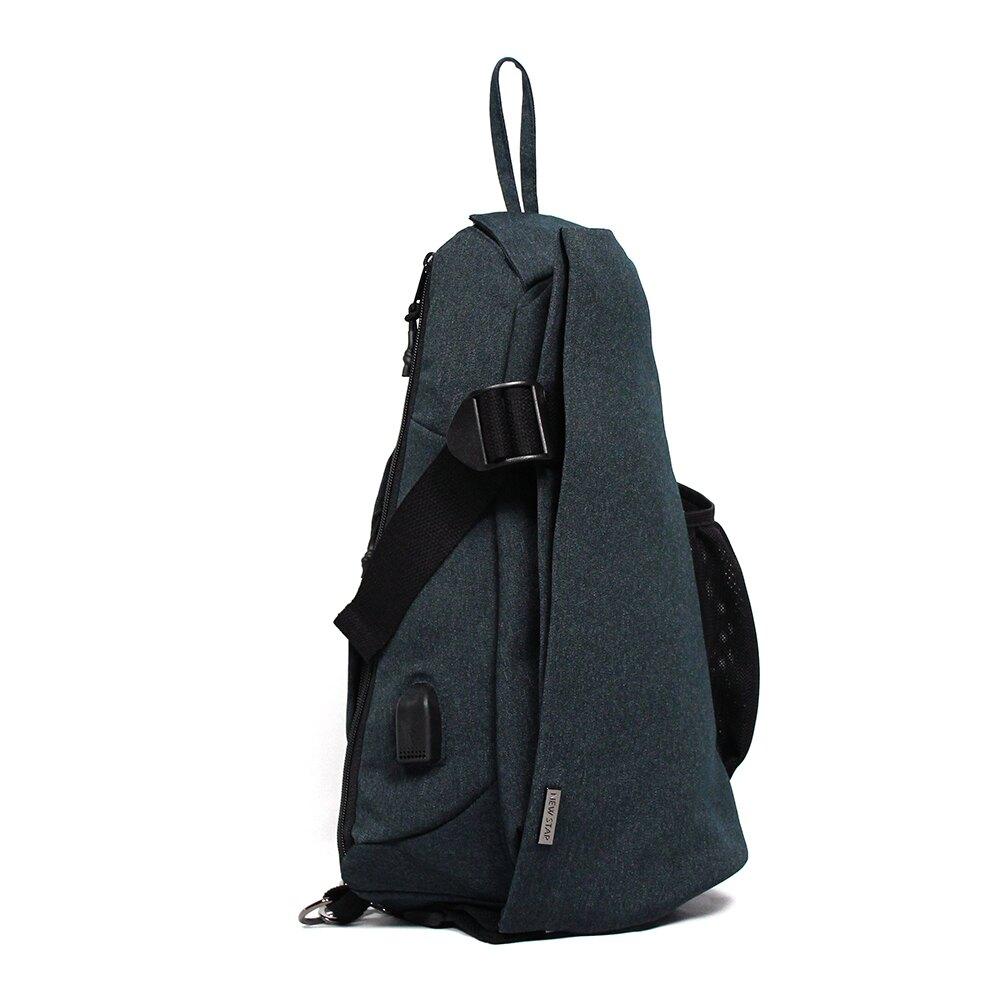 單肩背包 防水多功能充電胸包包 升級 側斜背包 男 女 男包 現貨 NEW STAR BK294
