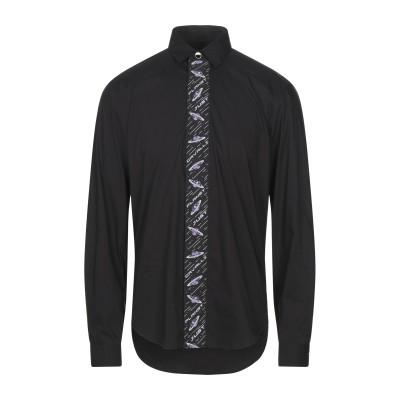 ジャストカヴァリ JUST CAVALLI シャツ ブラック 48 コットン 76% / ナイロン 21% / ポリウレタン 3% シャツ