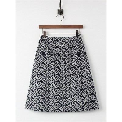 美品 Sally Scott サリースコット フラワー ジャガード コーデュロイ スカート61-89 ボトムス 刺繍 2400010553790
