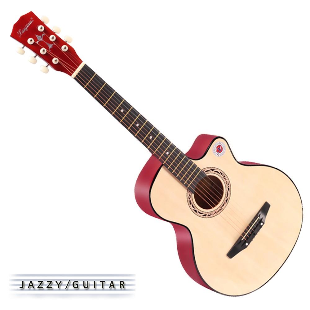 【台灣Jazzy】入門初學最佳入手,38吋民謠吉他,贈全配件,木吉他,吉他加贈液晶調音器