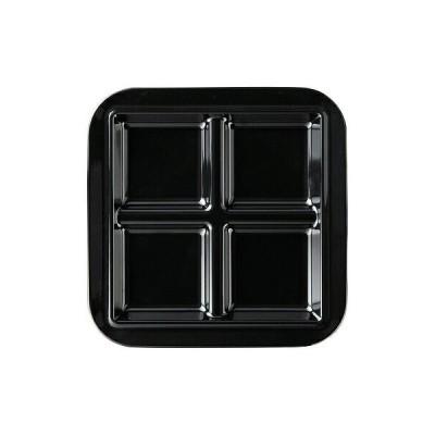 メラミン 耐熱フォーカットプレート ブラック  1201636