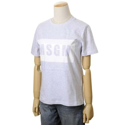 MSGM エムエスジーエム レディース Tシャツ MDM195 296 94 XS/S/M カットソー ブランドロゴ 半袖Tシャツ グレー