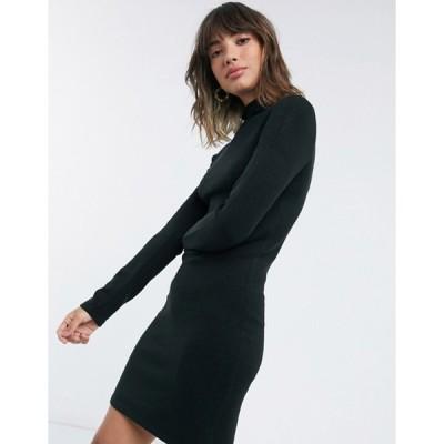 フレンチコネクション レディース ワンピース トップス French Connection Babysoft Crew Neck Short Dress in Black