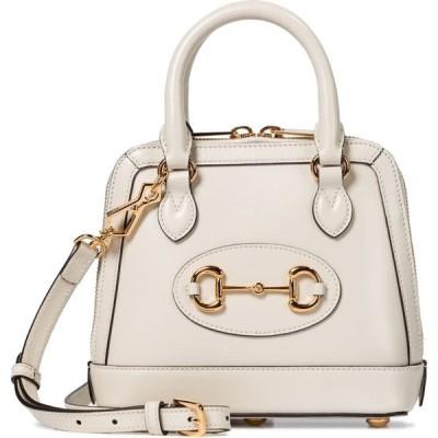 グッチ Gucci レディース ハンドバッグ バッグ Horsebit 1955 Mini leather tote Mystic White