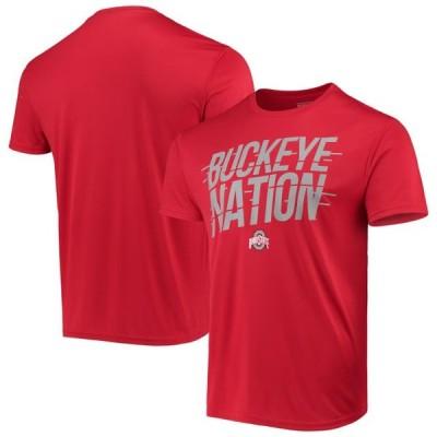 メンズ スポーツリーグ アメリカ大学スポーツ Men's Scarlet Ohio State Buckeyes Catalyst Nation T-Shirt Tシャツ