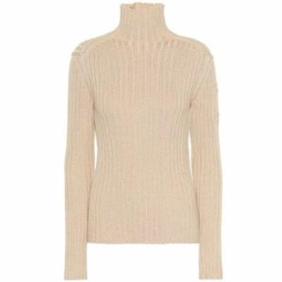 クロエ Chloe レディース ニット・セーター トップス Wool-blend turtleneck sweater Light Camel