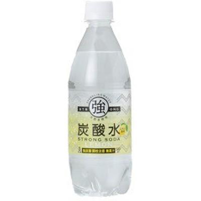 強炭酸水 レモン(500ml*24本入)[炭酸水(スパークリング)]