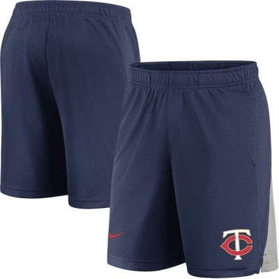 ナイキ ハーフ&ショーツ ボトムス メンズ Minnesota Twins Nike Team Logo Franchise Shorts Navy
