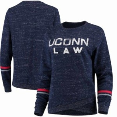 Colosseum コロセウム スポーツ用品  Colosseum UConn Huskies Womens Navy Birdie Pullover Sweatshirt