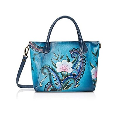 Anna by Anuschka Women's Genuine Leather Large Slouch Tote Bag | Hand Paint