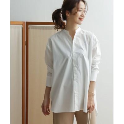 URBAN RESEARCH DOORS / バンドカラーサイドスリットシャツ WOMEN トップス > シャツ/ブラウス